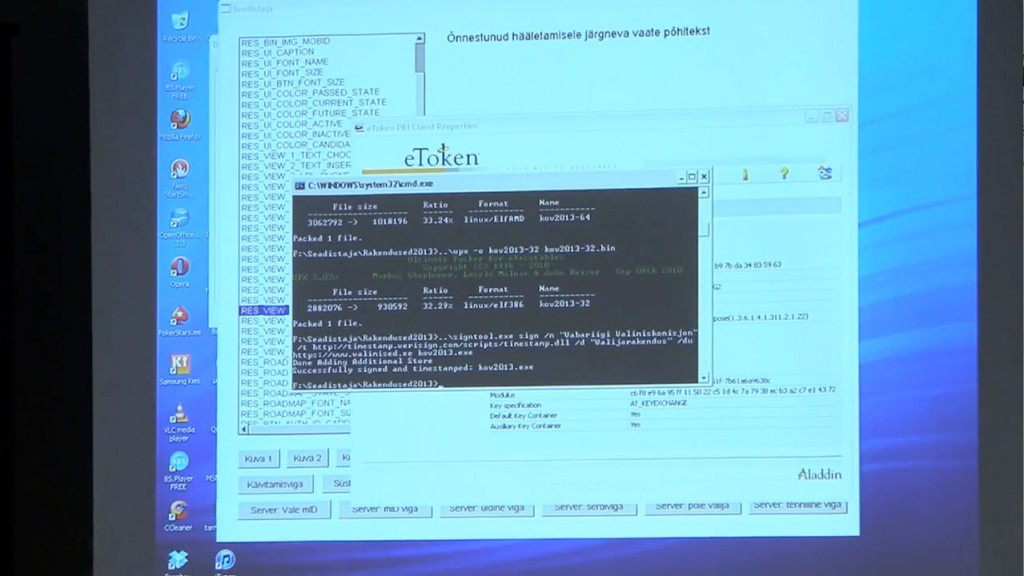 Personal computer used to build election client for distribution