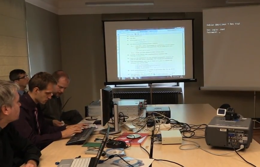 Root passwords caught on video